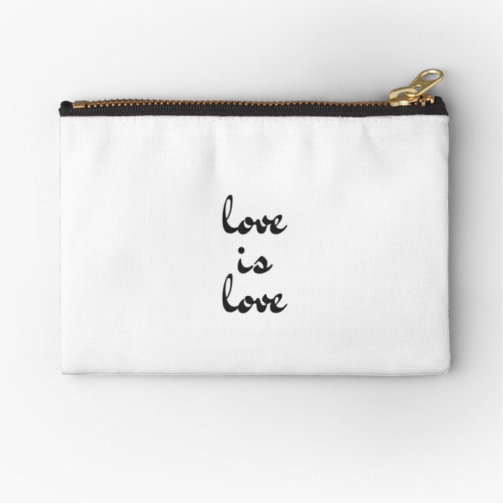love is love  Zipper Pouch