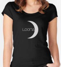 KPOP GIRLGROUP LOONA-LOGO-T-SHIRT / HOODIE / FALL / BECHER / BEUTEL / KISSEN / AUFKLEBER Tailliertes Rundhals-Shirt