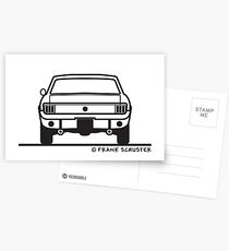 1965 Ford Mustang Back Postcards