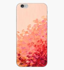 CREATION IN COLOR, CORAL PINK Pretty Girly Ombre Ocean Waves Sea Colorful Splash Abstract Acrylic Painting iPhone Case