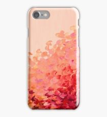 CREATION IN COLOR, CORAL PINK Pretty Girly Ombre Ocean Waves Sea Colorful Splash Abstract Acrylic Painting iPhone Case/Skin