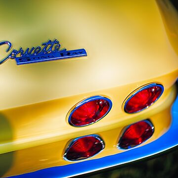 Beautiful Rear End of a Classic Chevrolet Corvette Sting Ray Automobile by ozeg