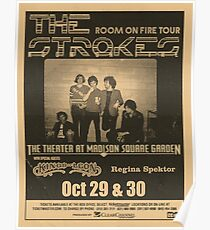 the strokes room on fire tour poster Poster