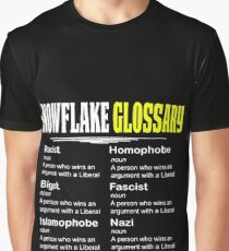 Funny Conservative Design Snowflake Glossary Graphic T-Shirt