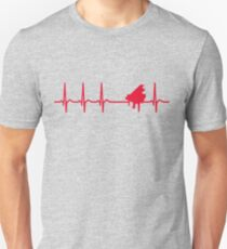 8c35100a Heartbeat Piano T-Shirt - Cool Funny Nerdy Comic Graphic Saxophonist Humor  Quote Sayings Shirt