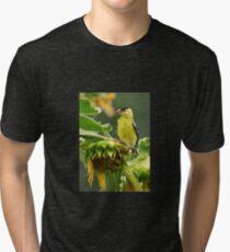 Camiseta de tejido mixto Jilguero en girasol