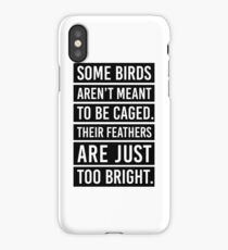 Bird Feathers Quote iPhone Case/Skin