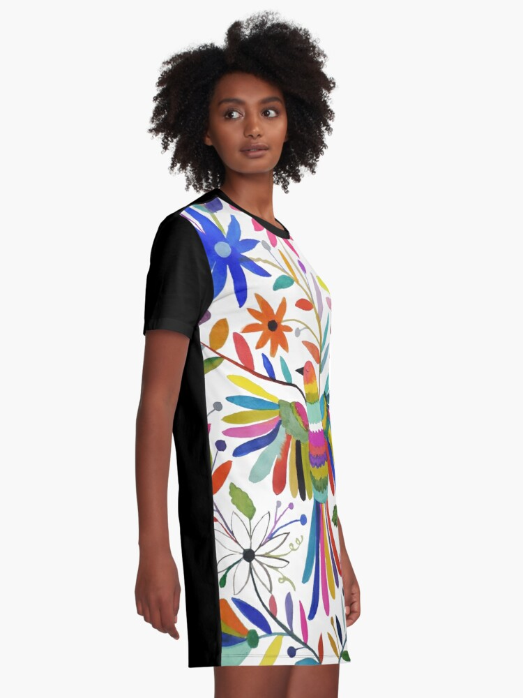 Alternate view of otomi bird Graphic T-Shirt Dress