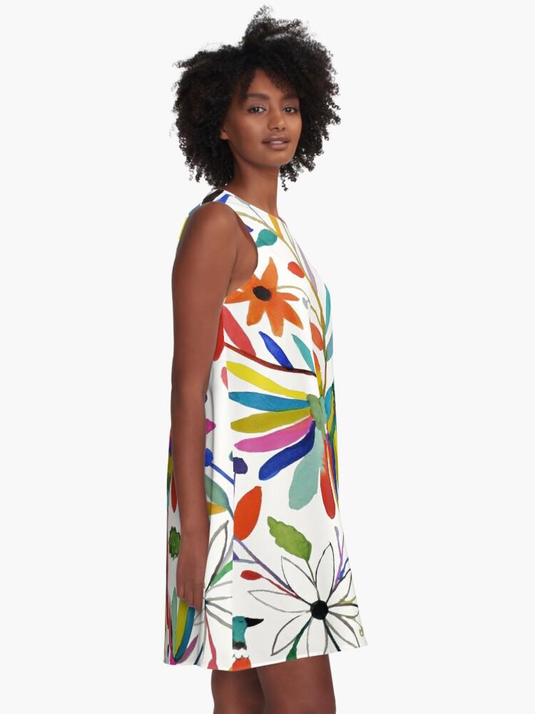 Alternate view of otomi bird A-Line Dress