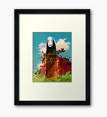 spirited away. no face Framed Print