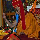 red hat. mcleod ganj, india by tim buckley | bodhiimages