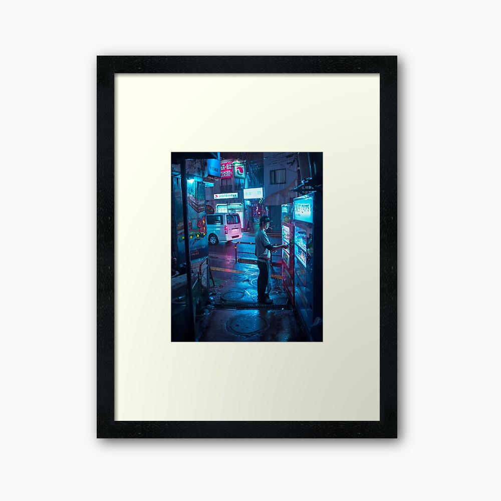 Coffee and Cigarette - Vertical Framed Art Print
