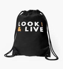 Look & Live Bible Verse Christian Faith Christ Drawstring Bag