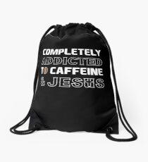 Addicted Caffiene Jesus Bible Verse Christian Drawstring Bag