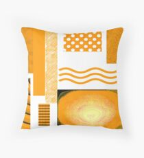 ABSTRACT DESIGN  | ORANGE AND BROWN | 1960 INSPIRED DECOR FOR THE SUBURBAN IN CROWD Throw Pillow
