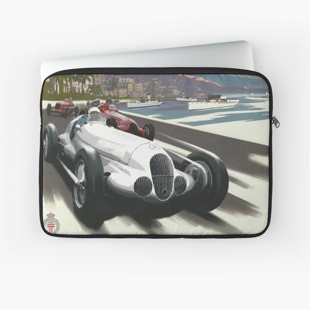 Retro Plakat Grand Prix von Monaco 1929 Laptoptasche