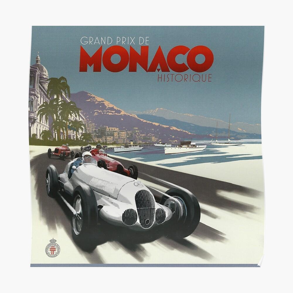 Retro Plakat Grand Prix von Monaco 1929 Poster