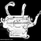 Ghost Image Octopus Typewriter by octotypewriter