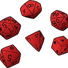 Dungeons and Dragons Dice by Chanel McKayla