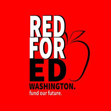 Red for Ed Washington Educators United Teachers Protest  by LisaLiza