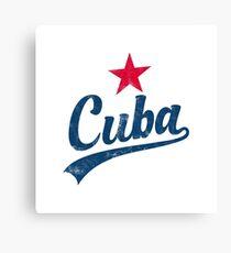 CUBA VINTAGE HANDWRITTEN WITH RED STAR Leinwanddruck