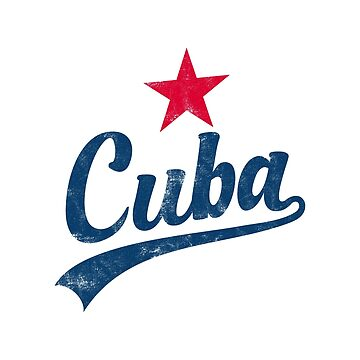 CUBA VINTAGE HANDWRITTEN WITH RED STAR by SUBGIRL