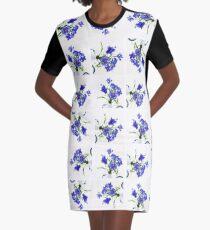 Blue Cornflower Display  Graphic T-Shirt Dress