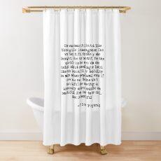 She was beautiful - F Scott Fitzgerald Shower Curtain