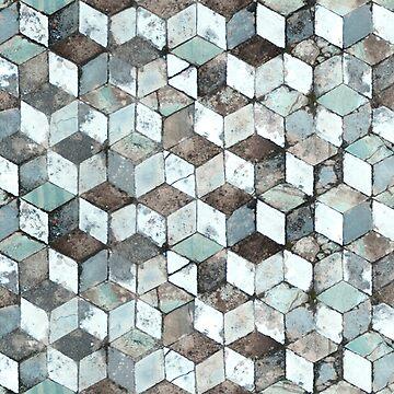 Roman geometric mosaic (Pompeii). Pattern by puratura