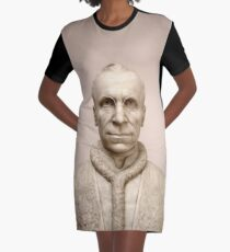 Sculpture Of Pope Pius XII, Rome Italy Graphic T-Shirt Dress