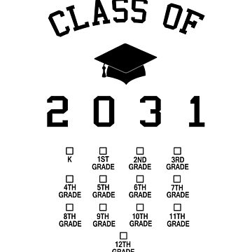 Class of 2031 grow with me t shirt by farhanhafeez