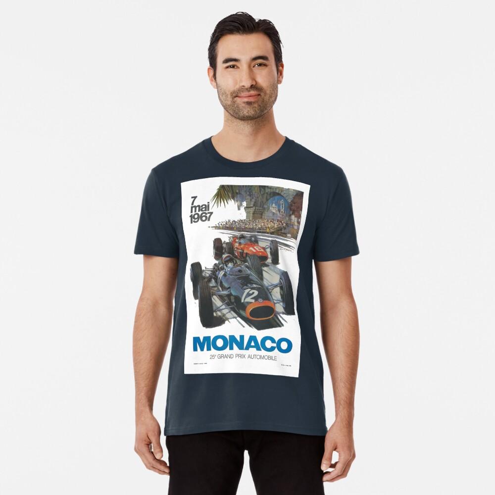 Retro Poster Großer Preis von Monaco 1967 Premium T-Shirt