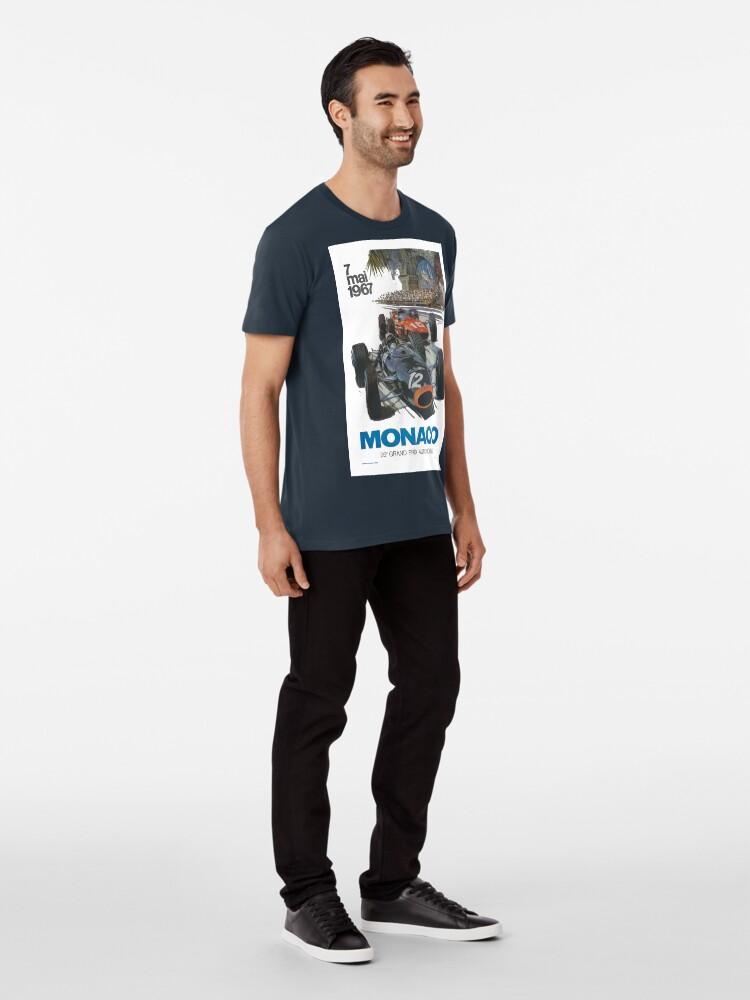 Alternative Ansicht von Retro Poster Großer Preis von Monaco 1967 Premium T-Shirt