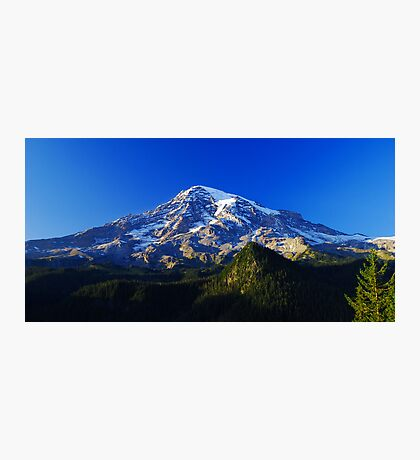 Blue Rainier Panorama Photographic Print