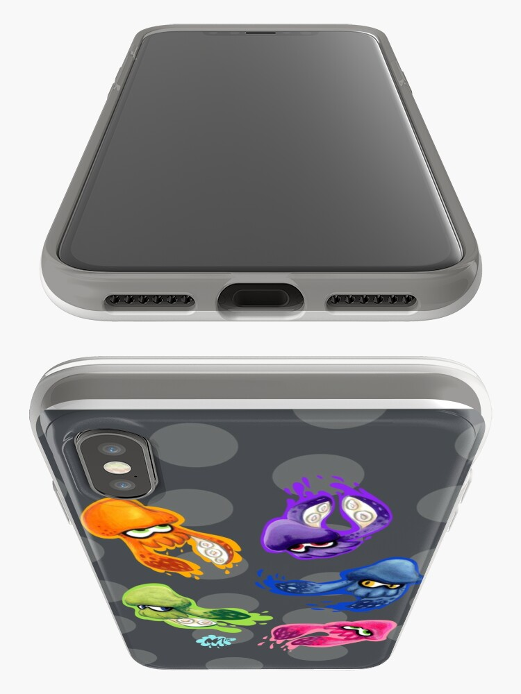 Vista alternativa de Funda y vinilo para iPhone Calamares Splatoon tintados