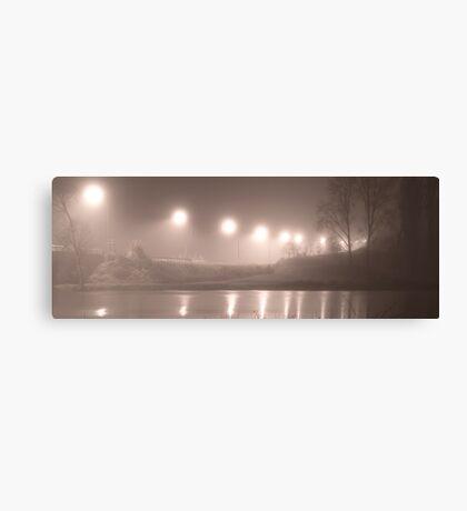 Wairoa River at night pano Canvas Print