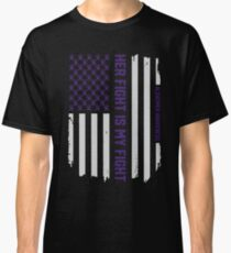 Her Fight Is My Fight - Alzheimer's Awareness American Flag Classic T-Shirt