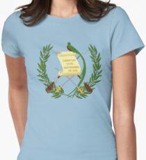 Armoiries du Guatemala T-shirt col V femme