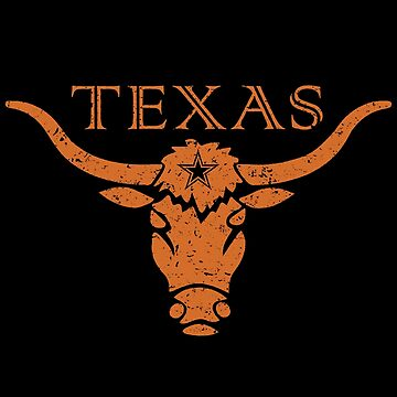 Vintage Texas Bull Icon  by IDDInc