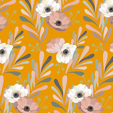Anemones & olive trees - yellow by anisg