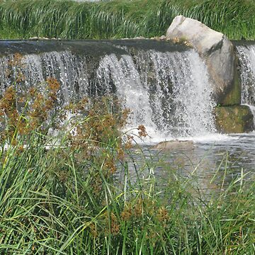 Waterfall Over Quarry Stones by wanda1505