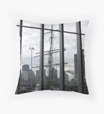 Polly Woodside from inside Melbourne Convention Centre Throw Pillow