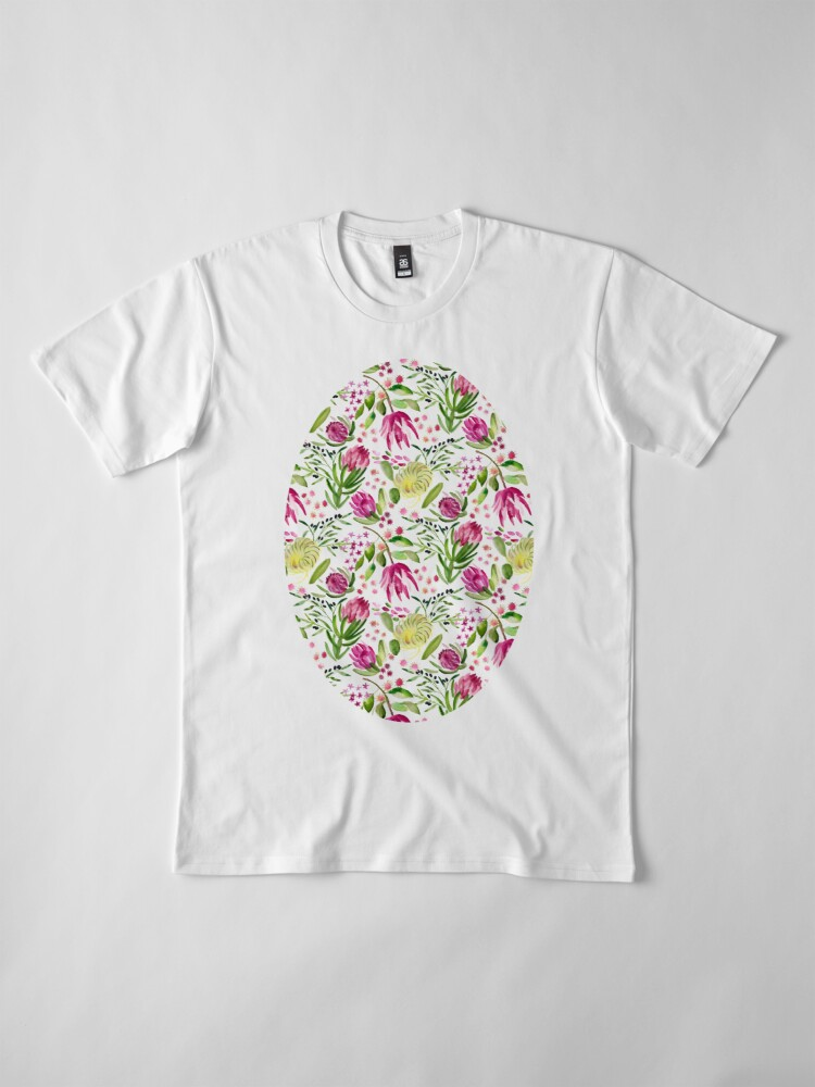 Alternate view of Protea Bloom Floral Premium T-Shirt