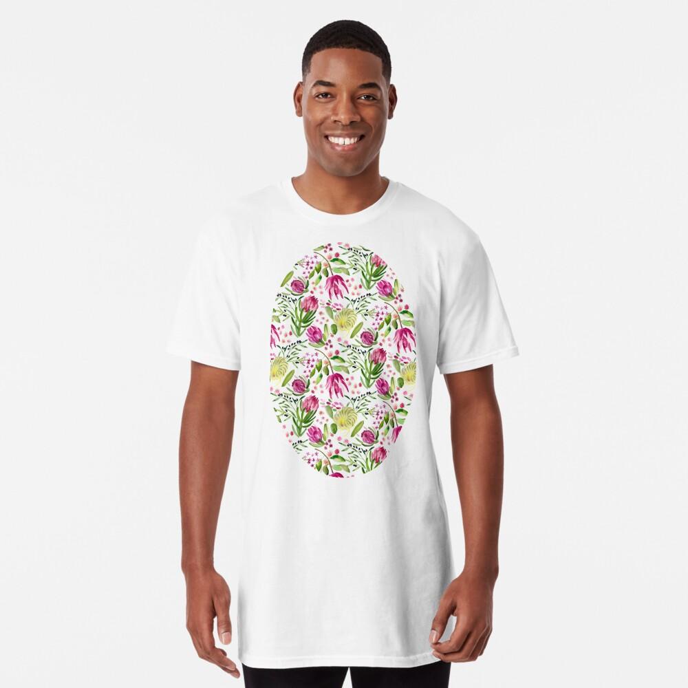 Protea Bloom Floral Long T-Shirt