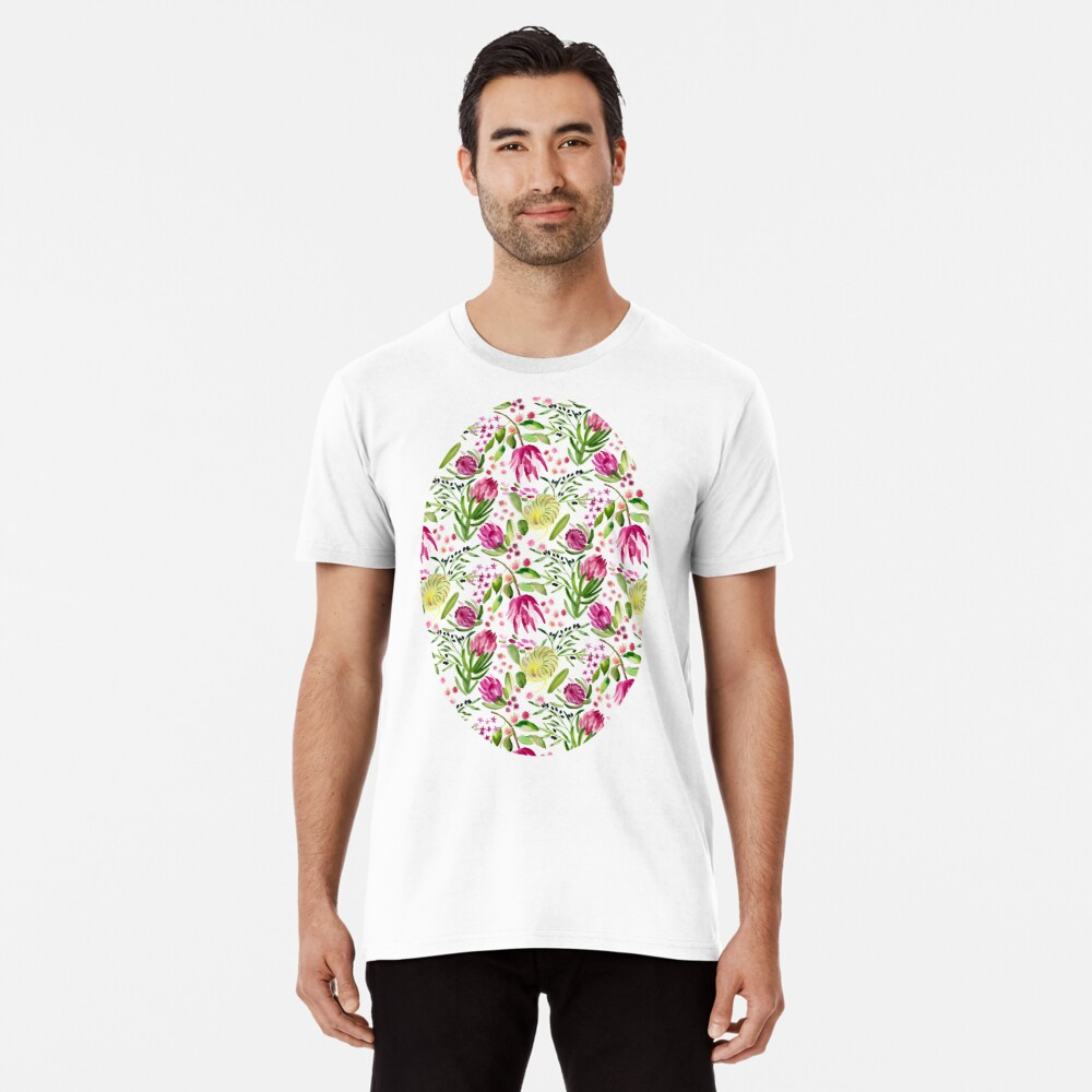 Protea Bloom Floral Premium T-Shirt