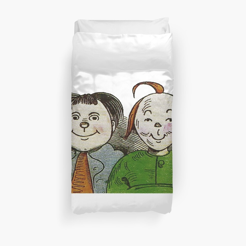 Max and Moritz , the iconic terrible duo Duvet Cover
