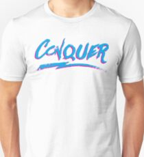 Conquer: 80's Hand-Rendered Type T-Shirt