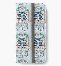 Wacky Watercolor Sugar Skull  iPhone Wallet/Case/Skin