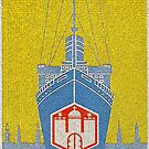 Vintage Hamburg Travel Poster, 1955 by edsimoneit