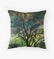 The Psychedelic Tree Throw Pillow